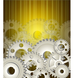 Gear wheels background vector image vector image