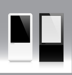 Interactive touch screen vector image vector image