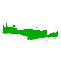 Map of Crete vector image vector image