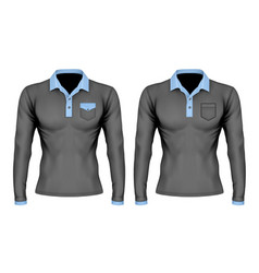 polo shirt with pocket vector image vector image