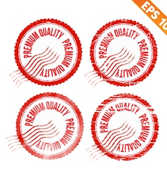 Rubber stamp premium quality - - EPS10 vector image