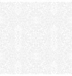 Seamless floral paisley wallpaper in white and vector image vector image