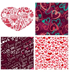 Valentines Day set vector image vector image