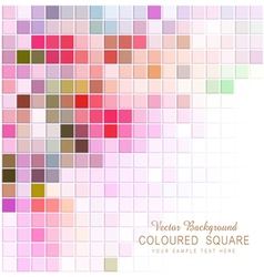 Abstract background with colored squares vector
