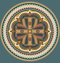byzantine cross vector image vector image