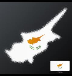 Cyprus halftone map vector image vector image