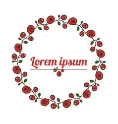 floral wreath natural flower frame vector image vector image