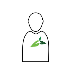 man with plant green vector image vector image