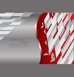 red and gray abstract background with copy space vector image vector image