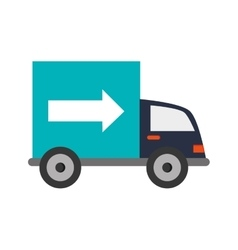 truck transportation delivery icon vector image