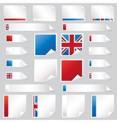 uk stickers and tabs vector image vector image