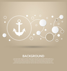 anchor icon on a brown background with elegant vector image