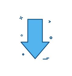 arrow down direction icon design vector image