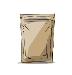 Bag packaging sketch for your design vector image