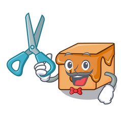barber caramel candies character cartoon vector image