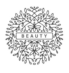 Beauty colorless design with floral ornaments vector