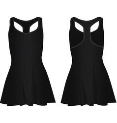 Black women dress vector