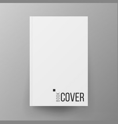 blank book cover white realistic vector image