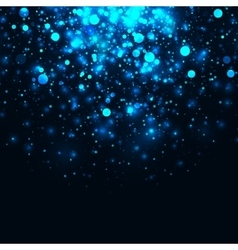 Blue glowing light glitter background vector