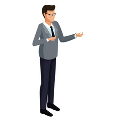businessman isometric isolated 3d vector image
