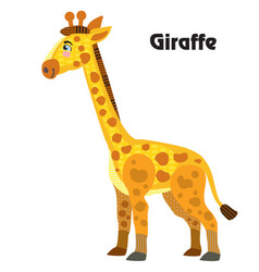 cartoon giraffe vector image