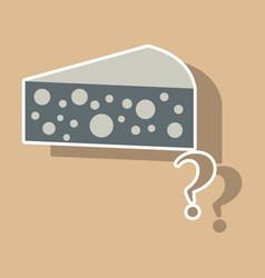 Cheese icon sticker symbol for web logo vector