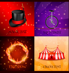 circus realistic design concept vector image