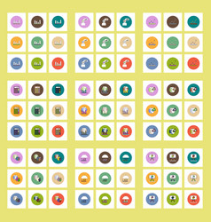 Collection of icons in flat style statistics vector