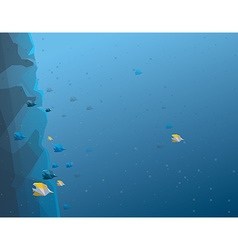Coral reef background vector