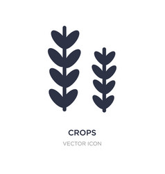 Crops icon on white background simple element vector