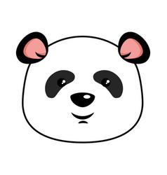 Cute panda emoji kawaii vector