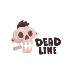 Deadline time limit business concept vector