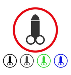 dildo rounded icon vector image