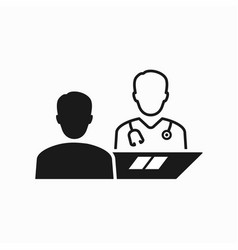 doctor and patient icon vector image