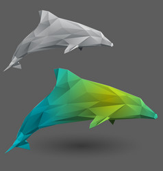 dolphin from triangles vector image