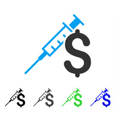 Drug business flat icon vector