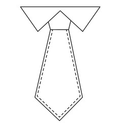Executive tie fashion vector