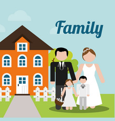 Family home wedding new house image vector
