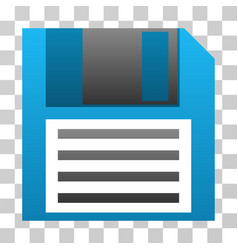 Floppy disk gradient icon vector