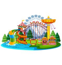 fun water theme park vector image