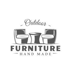 furniture label isolated on white background vector image