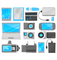 gadget digital device with display of vector image