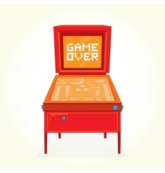 Game over retro pinball machine vector