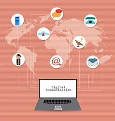 Global Network Communication Concept vector image