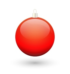 Gradient christmas red ball vector image