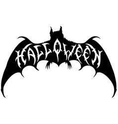 halloween bat emblem vector image