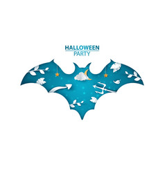 halloween party bat characters vector image