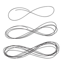 Hand drawn infinity sign vector