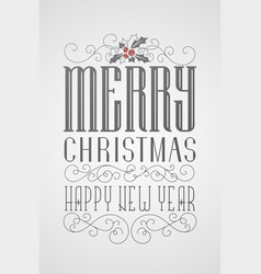 hand lettering christmas poster vector image