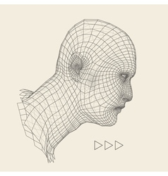 Head of the Person from a 3d Grid Human Face vector image